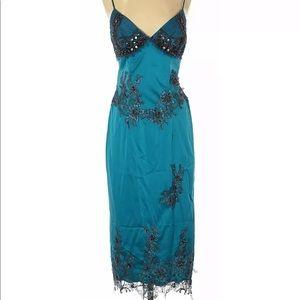 NWT Mandalay Dress Teal Beaded Size 4